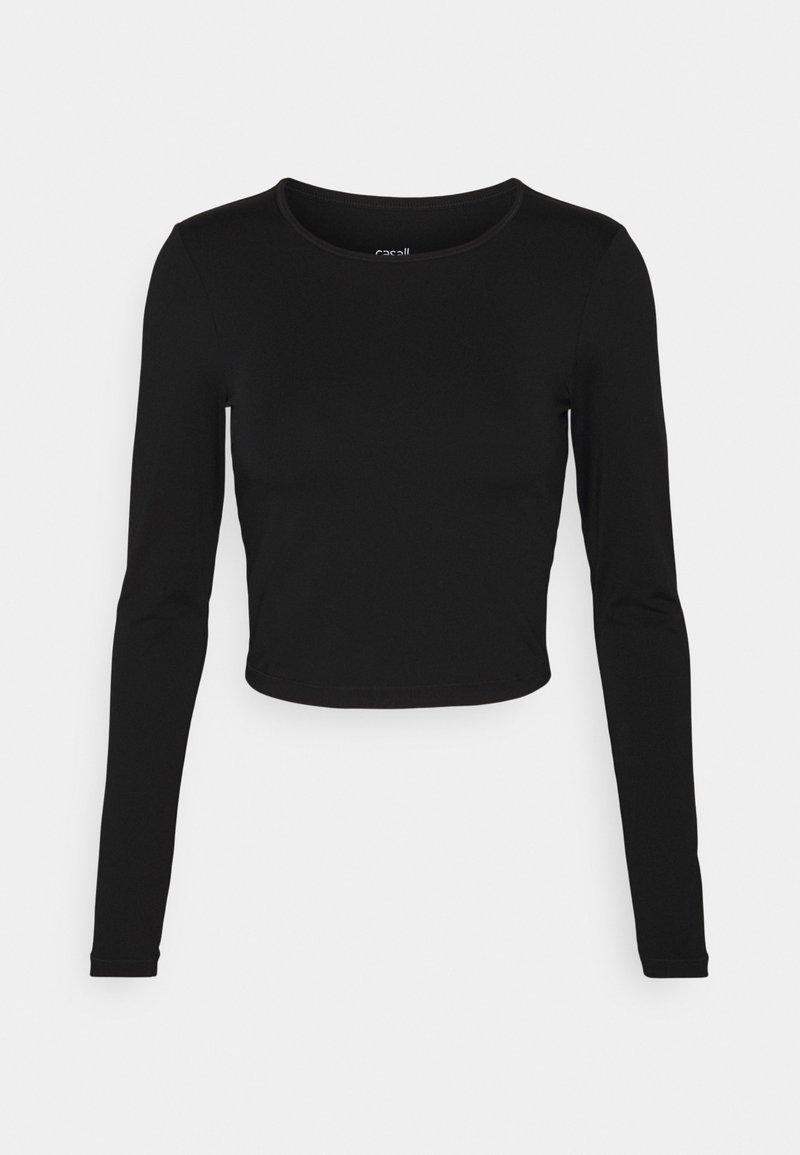 Casall - CROP LONG SLEEVE - Long sleeved top - black