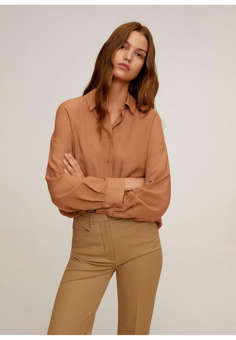 Mango - RORO - Button-down blouse - middenbruin