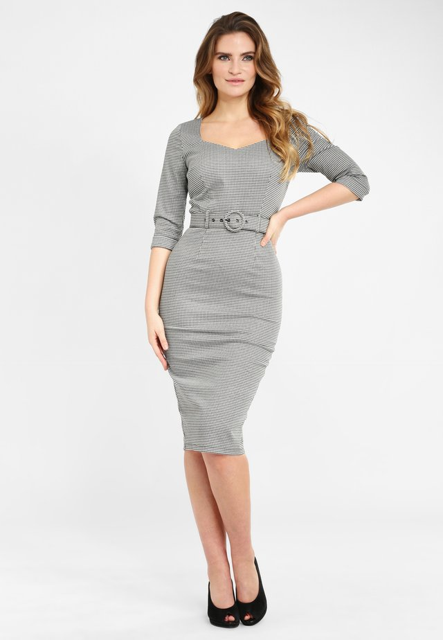 KATYA HOUNDSTOOTH PENCIL  - Fodralklänning - grey