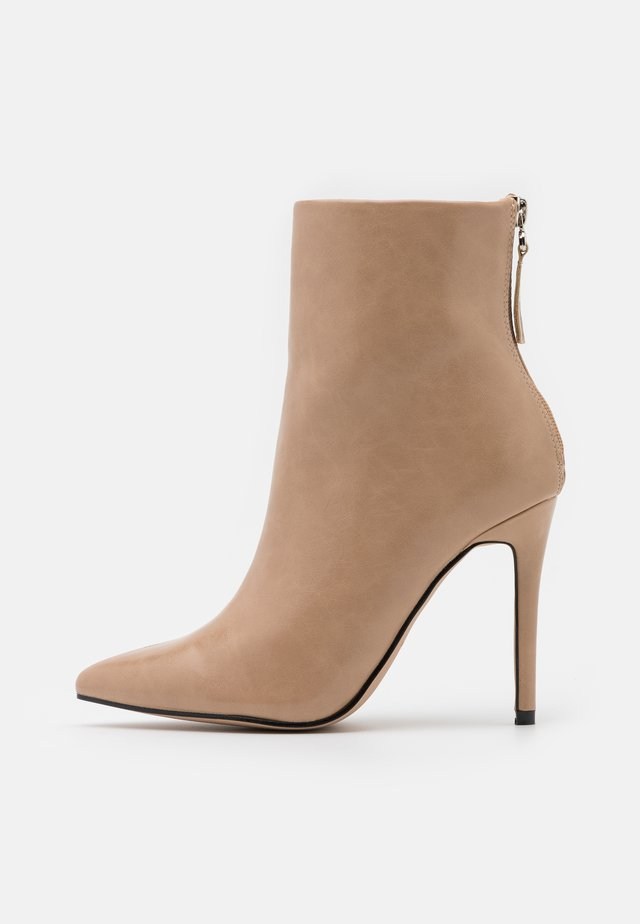 BENTLEE - High heeled ankle boots - beige
