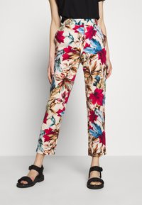 Pedro del Hierro - FLORAL PRINT TROUSER - Trousers - brown/print - 0