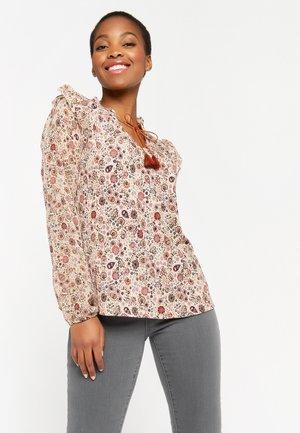 FLOWER PRINT - Long sleeved top - beige