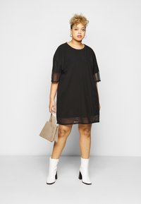 Missguided Plus - OVERLAY DRESS - Day dress - black - 1
