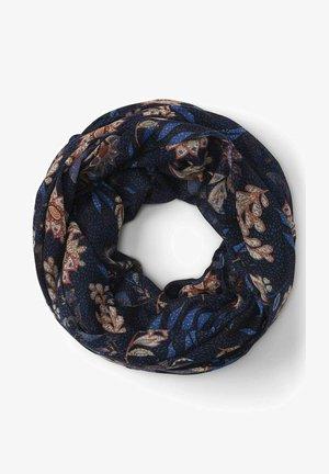 Sjaal - navy floral design