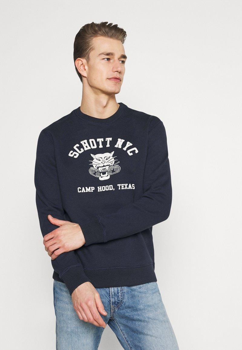 Schott - TIGER - Sweatshirt - navy