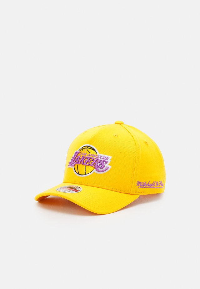 NBA LOS ANGELES LAKERS DROPBACK SOLID REDLINESNAPBACK - Keps - yellow