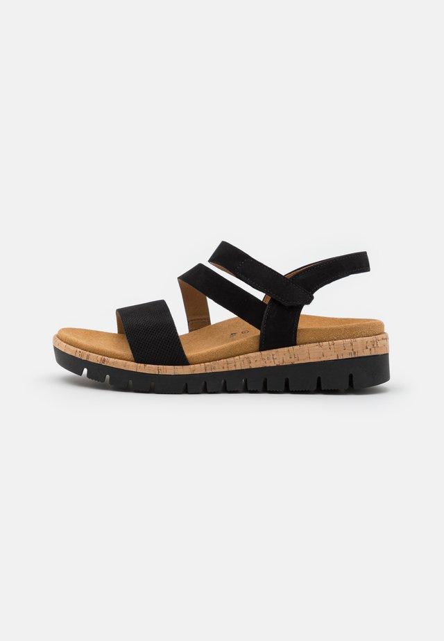 Sandaler m/ kilehæl - schwarz