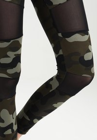 Urban Classics - LADIES CAMO TECH - Leggings - wood/black - 3