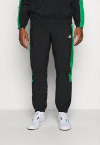 adidas Performance - ZIP - Tuta - black/black/vivgreen - 3