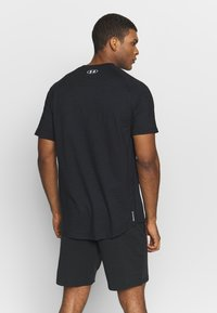Under Armour - CHARGED COTTON SS - T-shirts basic - black/white - 2