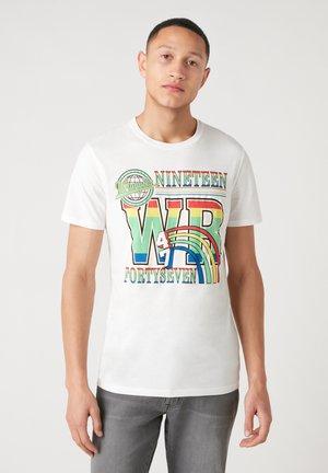 T-shirt imprimé - vintage white