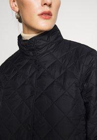 Selected Femme - SLFPLASTICCHANGE QUILTED JACKET - Light jacket - black - 5