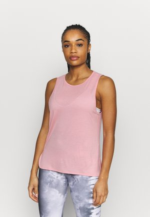 DRAPY MUSCLE TANK - Top - rising pink