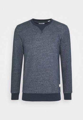 JJMELANGE CREW NECK - Sweatshirt - navy blazer melange