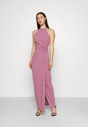 ZARITA SIDE KNOT MAXI DRESS - Jerseykjole - mauve pink