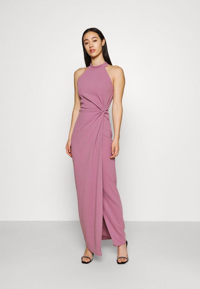 ZARITA SIDE KNOT MAXI DRESS - Sukienka z dżerseju - mauve pink