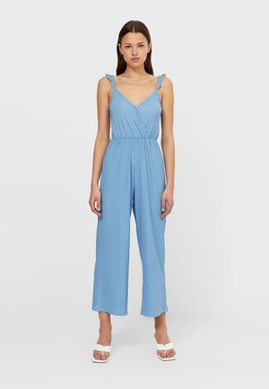 MIT TRÄGERN KONFETTI  - Jumpsuit - light blue