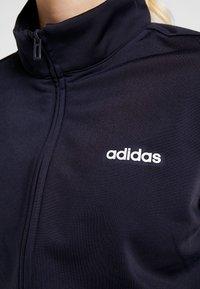 adidas Performance - PLAIN TRIC SET - Tepláková souprava - dark blue/white - 8