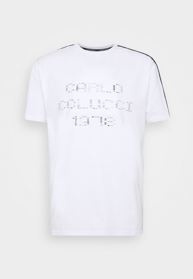 T-shirt con stampa - weiss