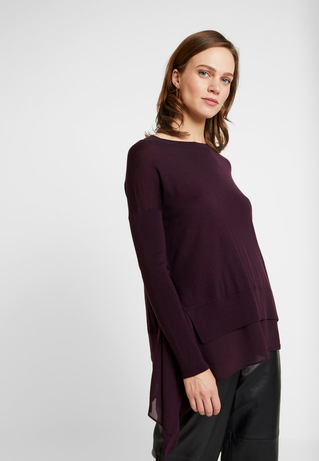 LIBBY CREW NECK - Pullover - port purple