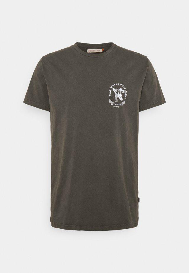 REGULAR - T-shirt con stampa - black