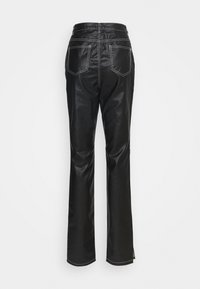 Missguided Tall - CONTRAST STITCH COATED WRATH - Straight leg jeans - black - 1