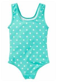 Boden - MIT APPLIKATION - Swimsuit - grün/naturweiß, getupft/fische - 1