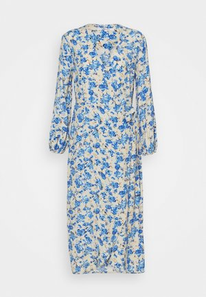 ONLPIO LONG WRAP DRESS  - Vestido informal - humus/dazzling blue