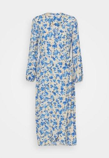 ONLPIO LONG WRAP DRESS  - Vestido informal - humus/dazzling blue