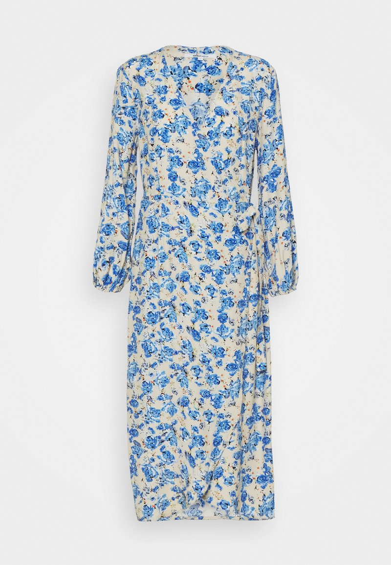 ONLY - ONLPIO LONG WRAP DRESS  - Vestido informal - humus/dazzling blue
