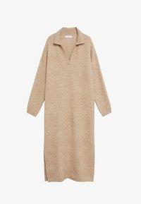 POLIN - Pletené šaty - marron moyen