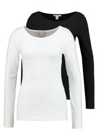 Anna Field Tall - 2ER PACK  - Long sleeved top - black/white - 0