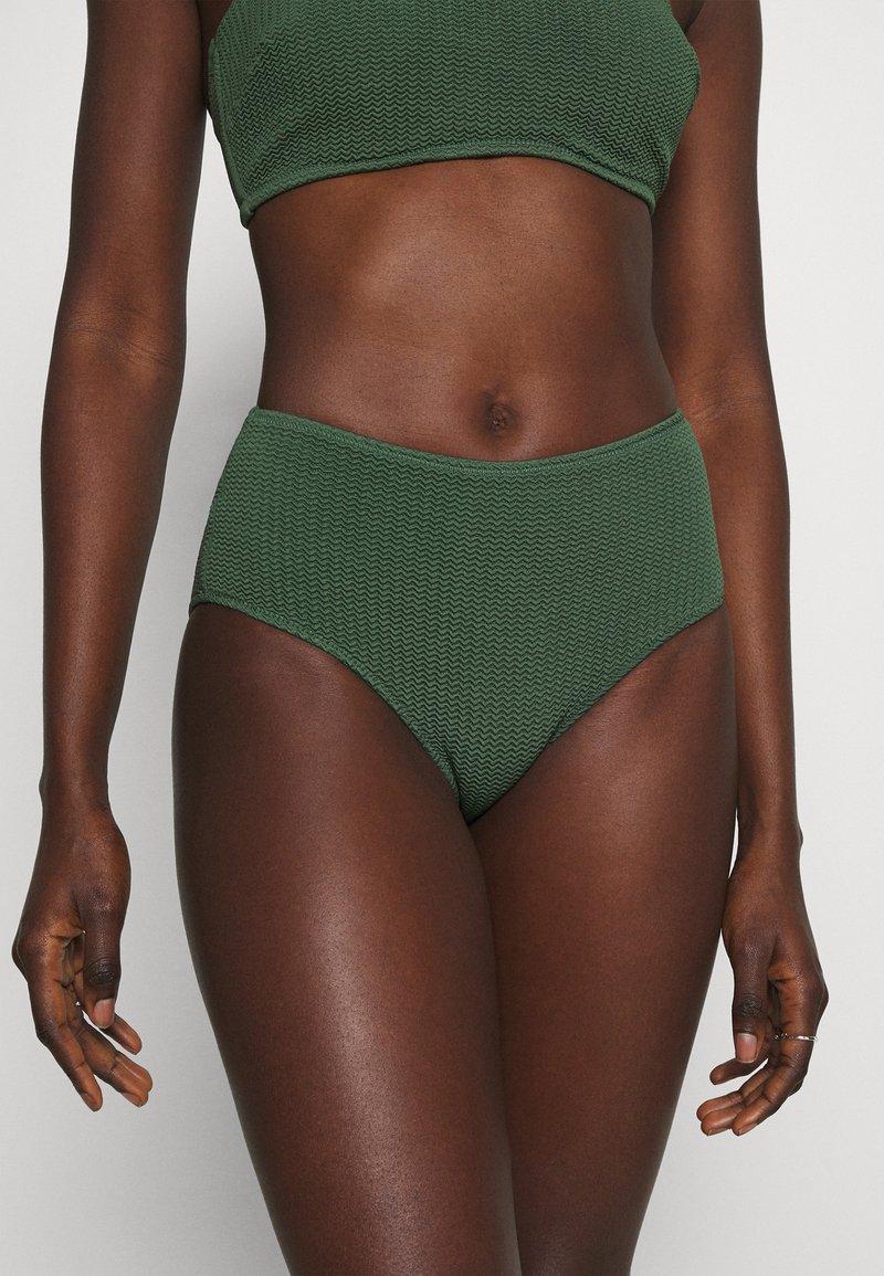Seafolly - SEA DIVE WIDE SIDE RETRO - Bikini bottoms - ivy