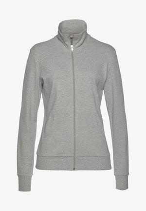 Training jacket - hellgrau-melange