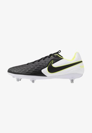 LEGEND 8 PRO SG - Screw-in stud football boots - black/white/volt