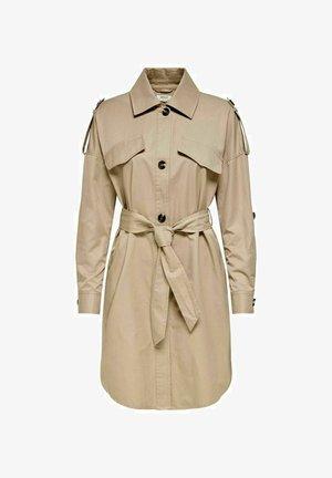 EINFARBIG - Trenchcoat - beige, mottled beige