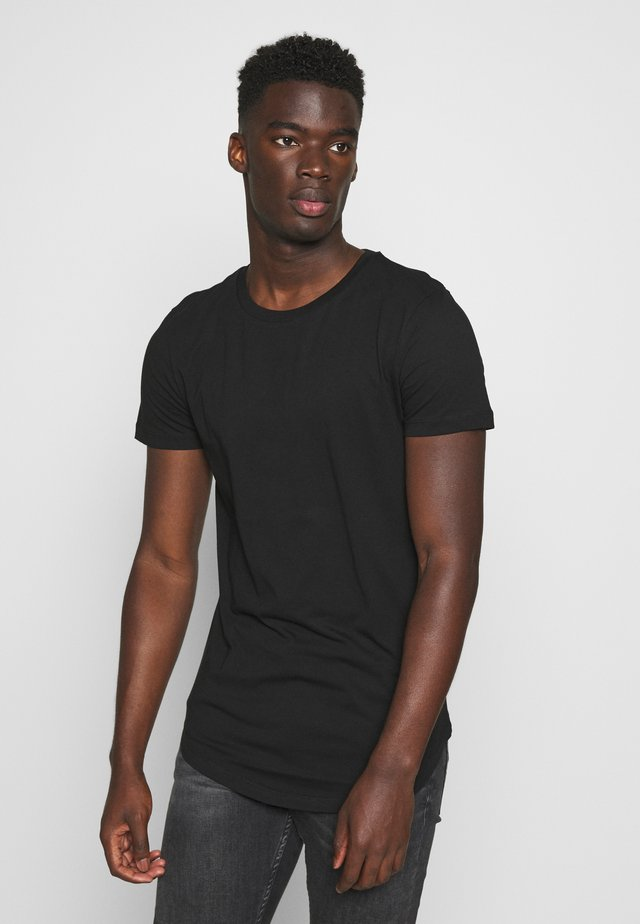 BADGE - T-shirt basique - black