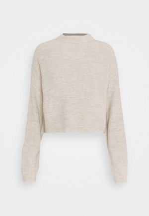 CROPPED BAT SHAPE - Strikkegenser - beige