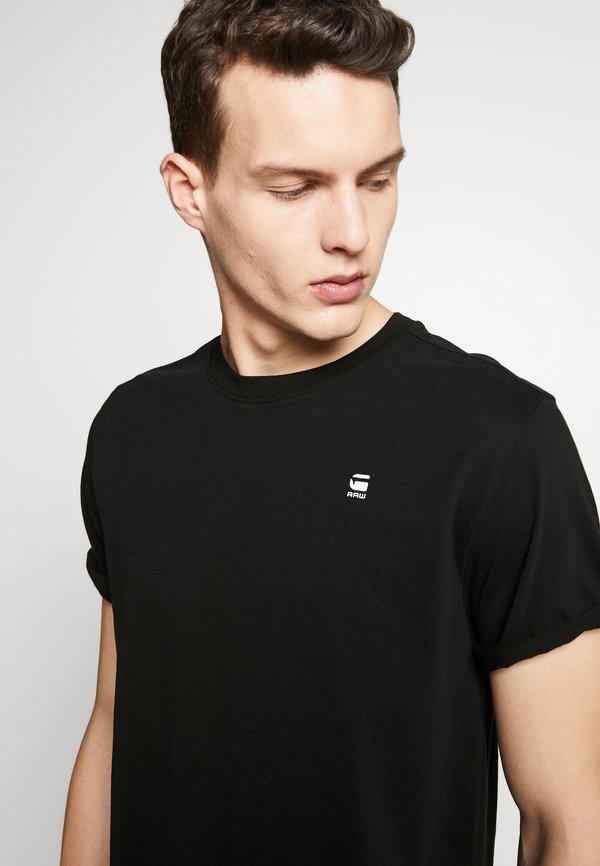 G-Star LASH ROUND SHORT SLEEVE - T-shirt basic - black/czarny Odzież Męska UKPR