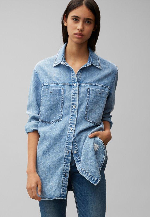 Button-down blouse - multi/vintage light blue