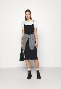 Abercrombie & Fitch - MIDI DRESS - Day dress - black - 1