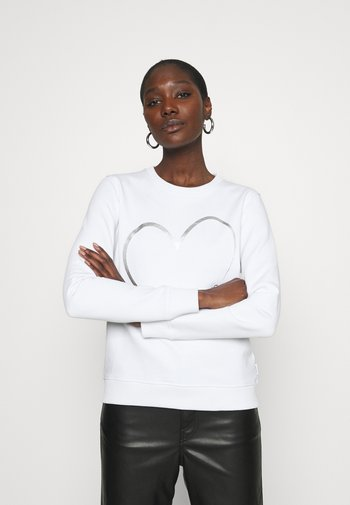 VALENTINES CREW NECK - Sweatshirt - bright white