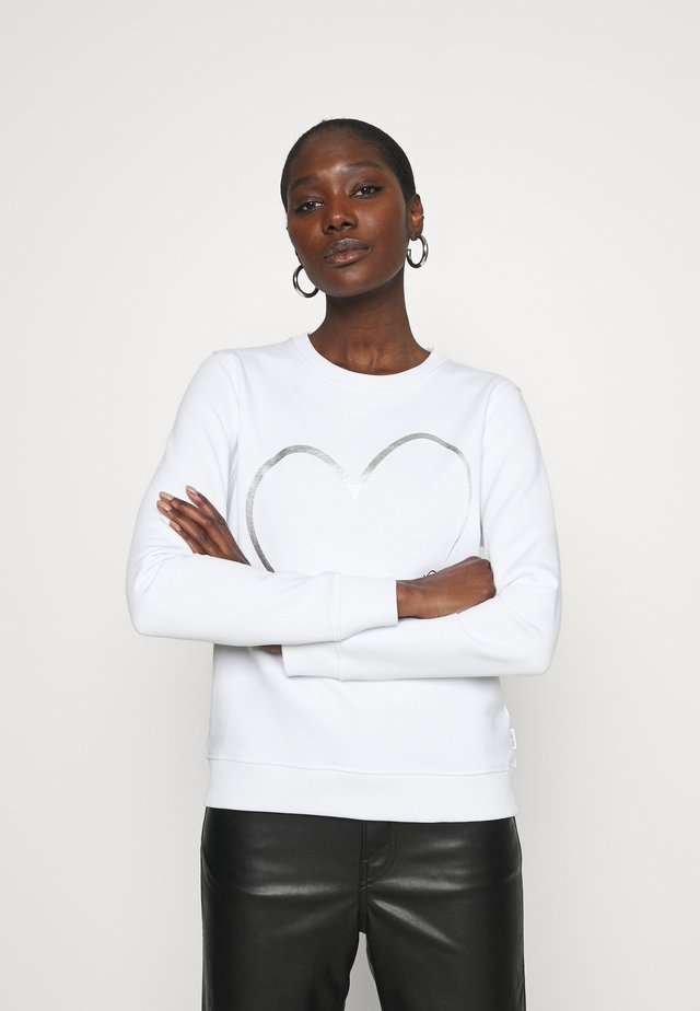VALENTINES CREW NECK - Bluza - bright white