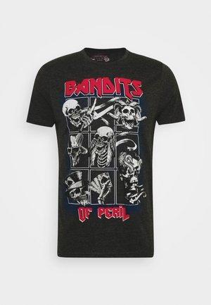 BANDIT - Print T-shirt - dark charcoal
