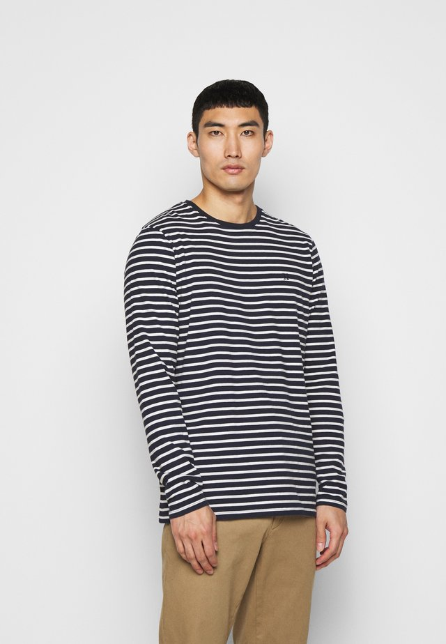 SAILOR STRIPE - Top s dlouhým rukávem - navy/off white/sky blue
