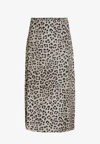 Oui - A-line skirt - light grey camel - 4