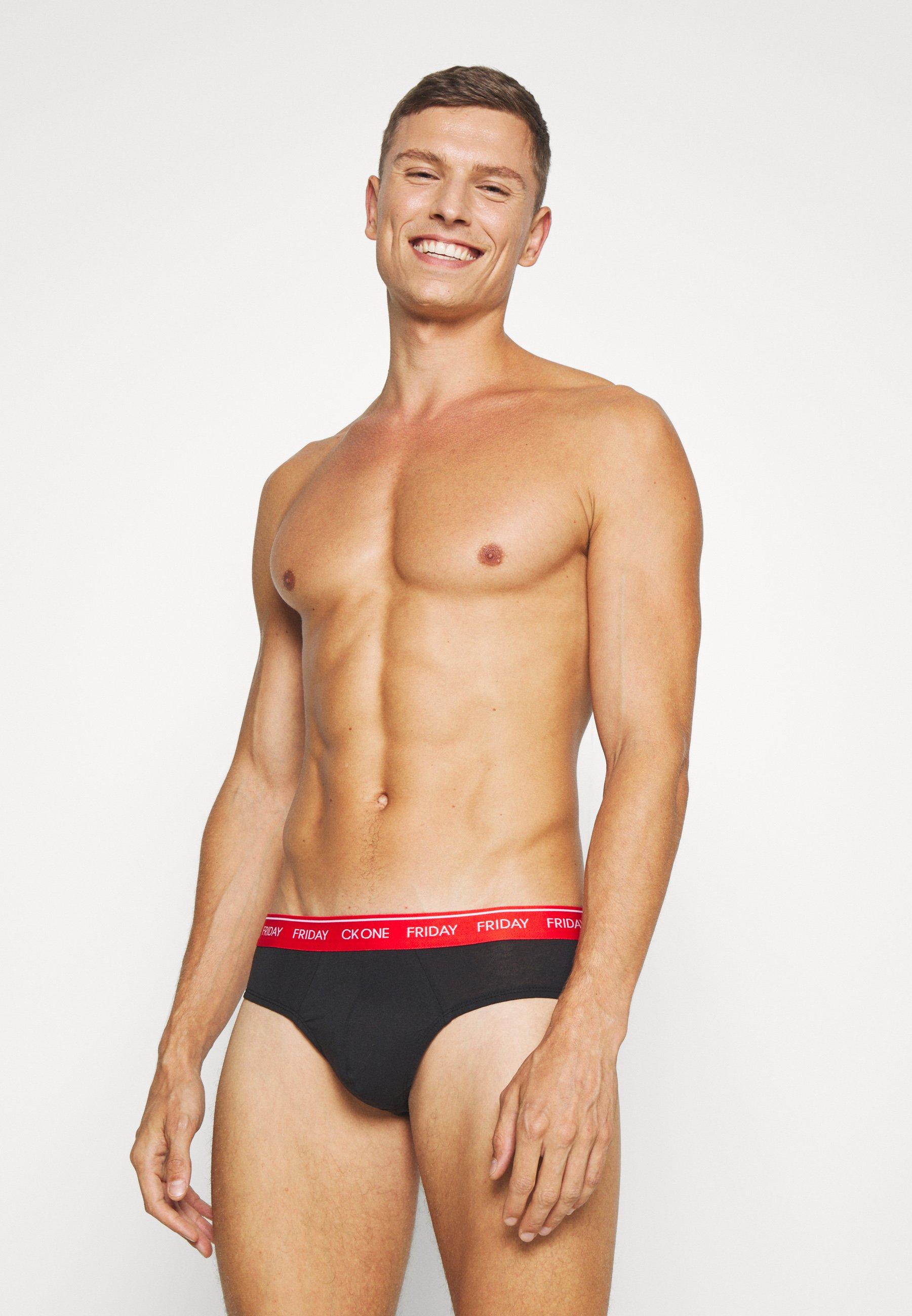 Calvin Klein Underwear Days Of The Week Hip Brief 7 Pack - Braguitas Black