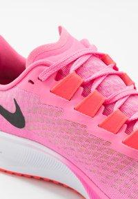Nike Performance - AIR ZOOM PEGASUS 37 - Neutral running shoes - pink glow/black/platinum violet/white - 5