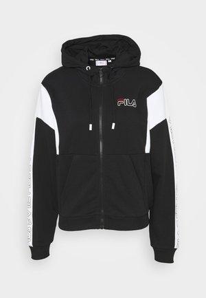 LAIN - Mikina na zip - black