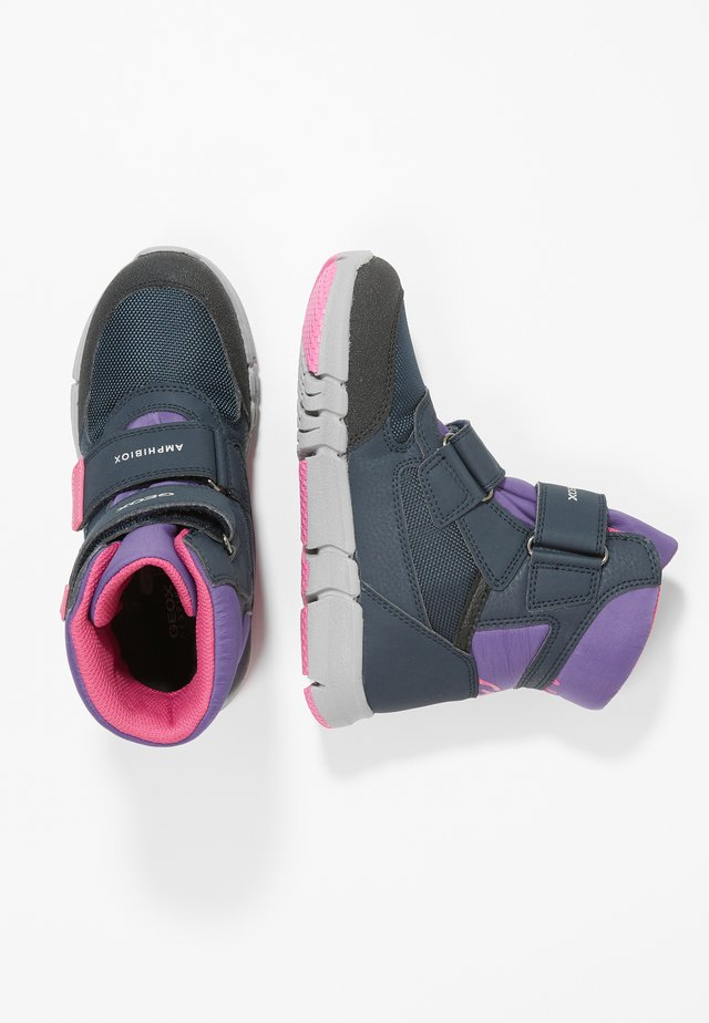 FLEXYPER GIRL - Vinterstøvler - navy/violet